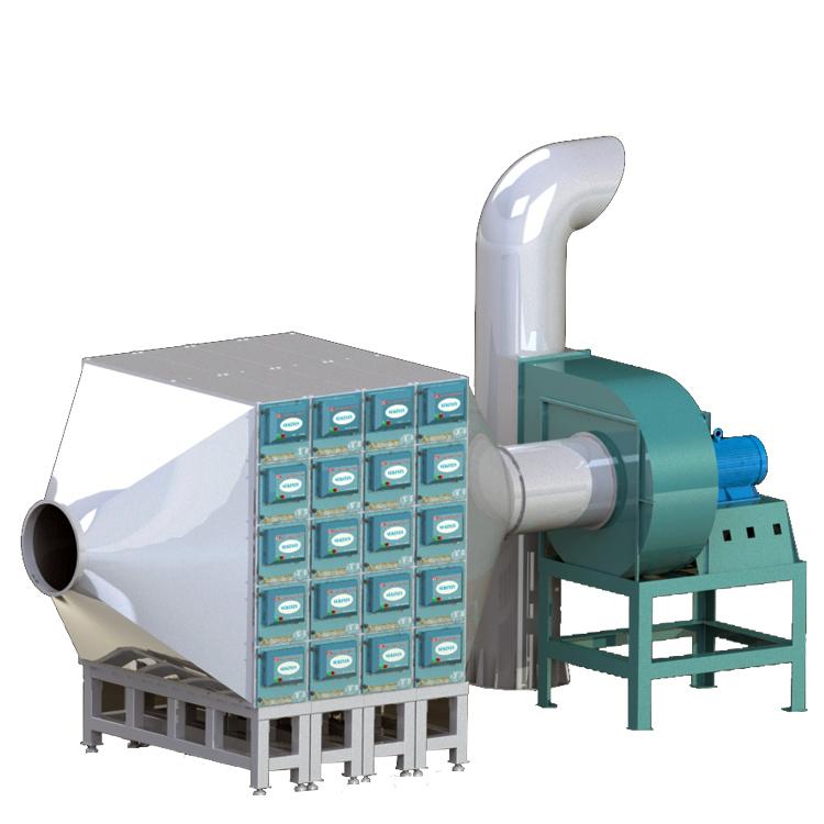 大型油烟净化器配置示意图